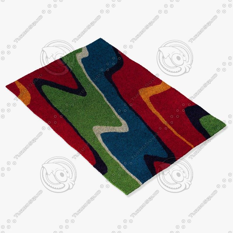chandra rugs ben-3001 3d 3ds