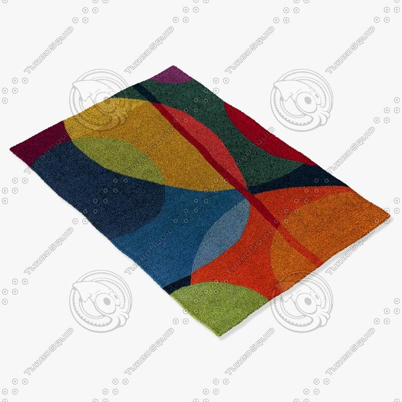 chandra rugs ben-3010 3d model