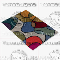 chandra rugs ben-3011 3d model