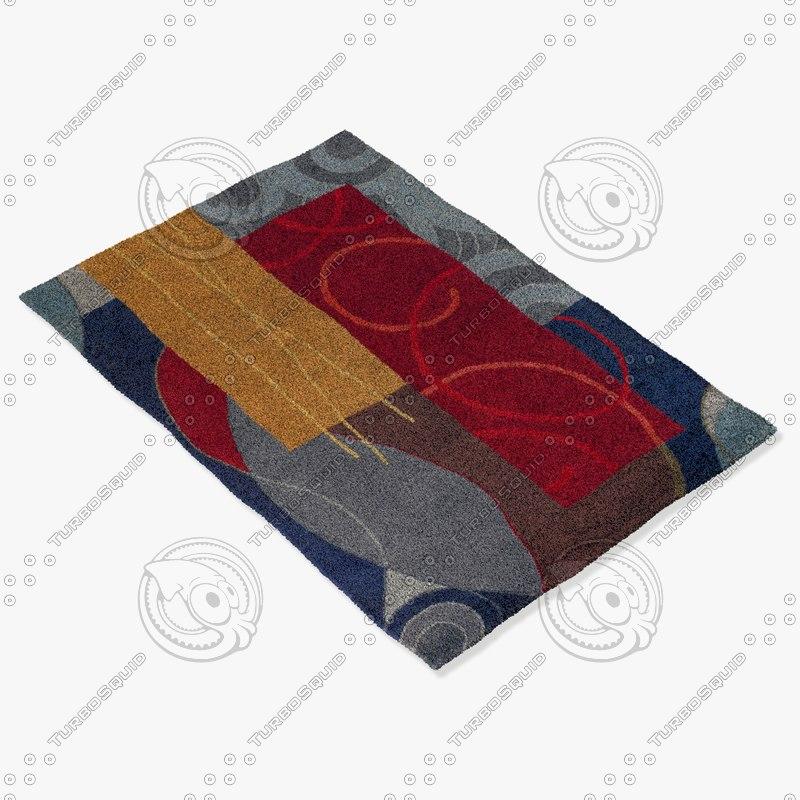 chandra rugs ben-3015 3d max