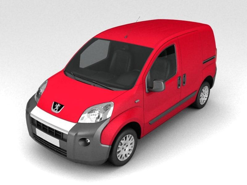 3d model of peugeot bipper panel van