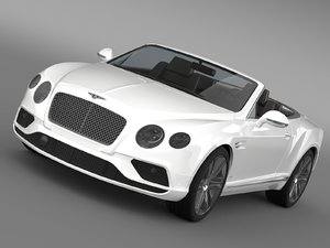 3d model bentley continental gtc 2015