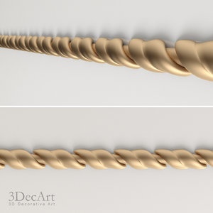free decorative moldings 3d model
