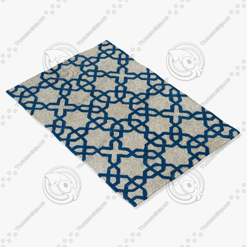 chandra rugs dav-25803 3d model