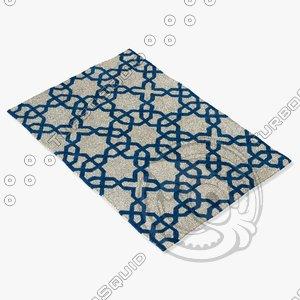 chandra rugs dav-25803 3d model