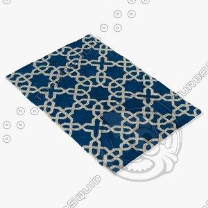 chandra rugs dav-25804 3d model
