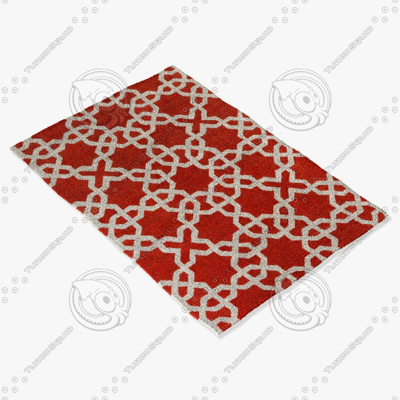 chandra rugs dav-25805 3d model