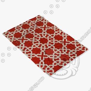 chandra rugs dav-25805 3d model