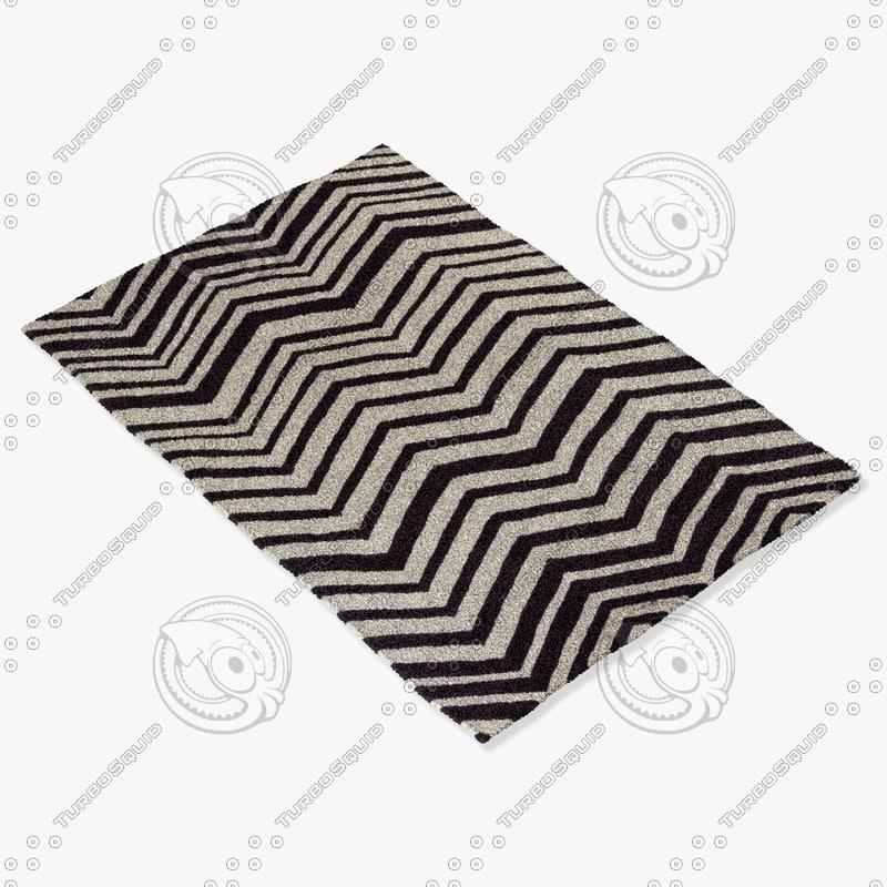 3d chandra rugs dav-25809 model
