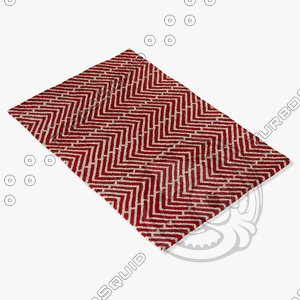 3d chandra rugs dav-25810 model