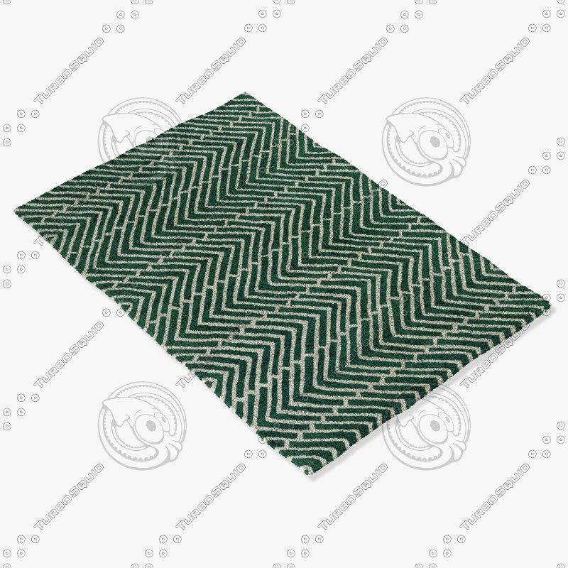 chandra rugs dav-25811 3d max