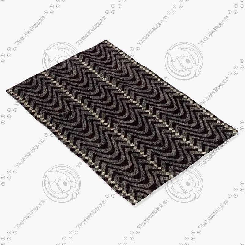 3d model chandra rugs dav-25815