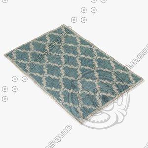 3d model chandra rugs dav-25827