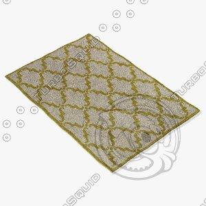 chandra rugs dav-25828 3d model