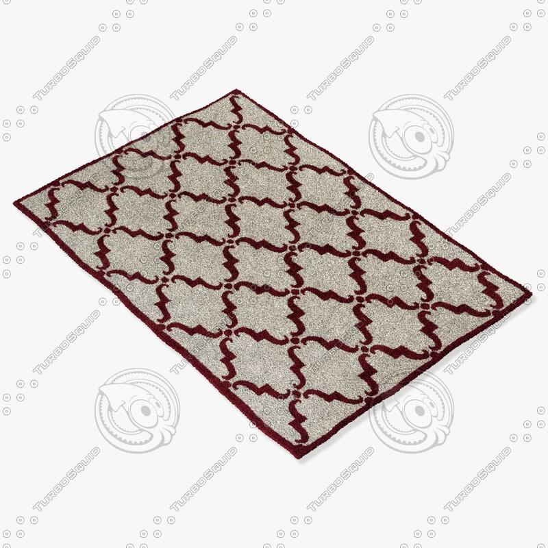 chandra rugs dav-25829 3d max