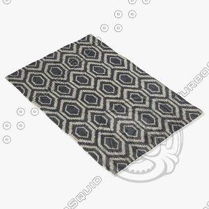 3d model chandra rugs dav-25838