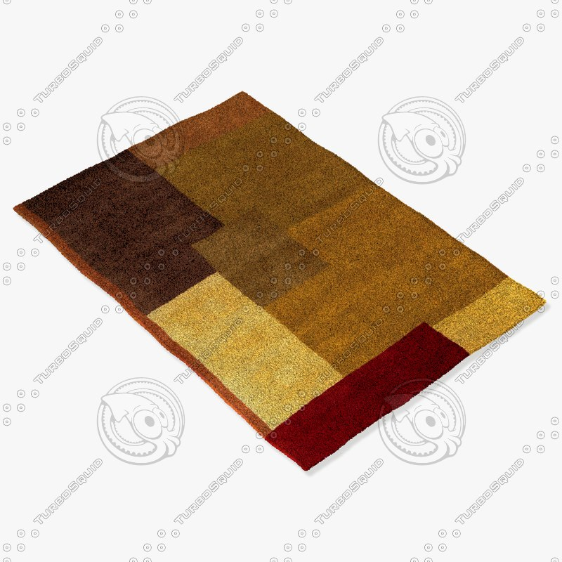 chandra rugs dre-3122 3d model