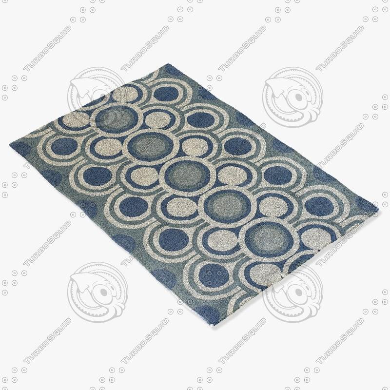 3d model chandra rugs fre-4529