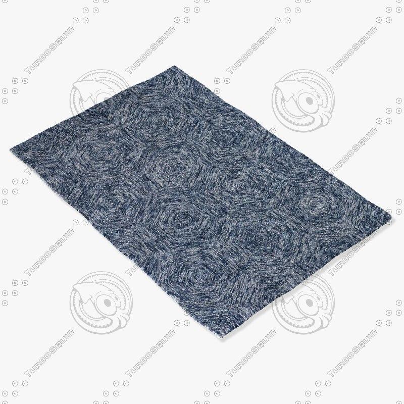 chandra rugs gal-30605 3d model