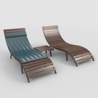3d model sunbed-2 outdoor