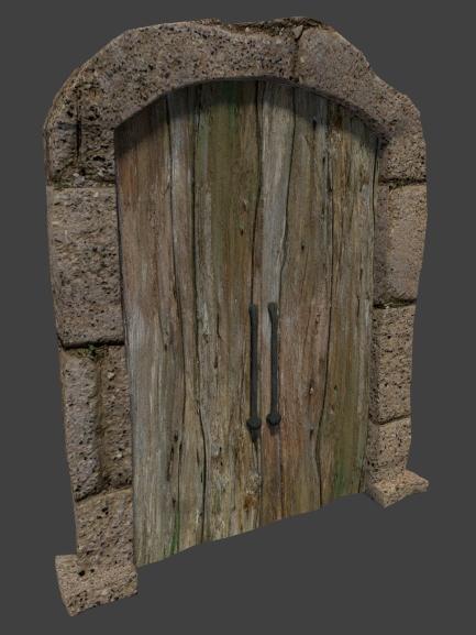 3d model castle door