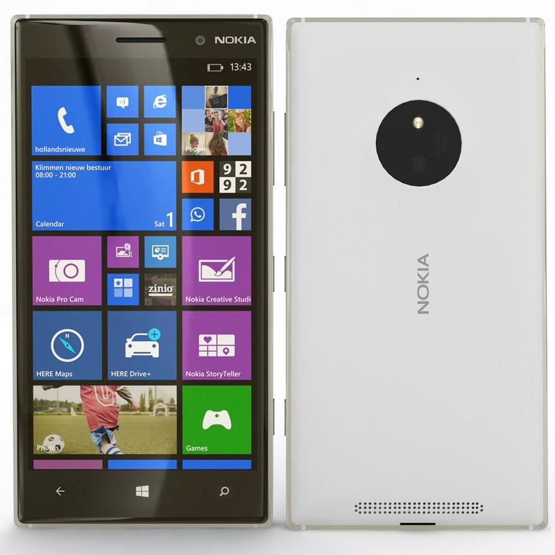 nokia lumia 830 3d 3ds