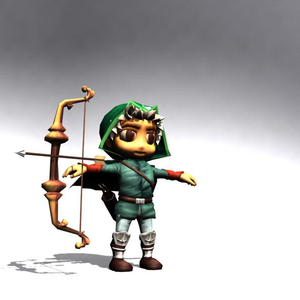 max archer cartoon rigged