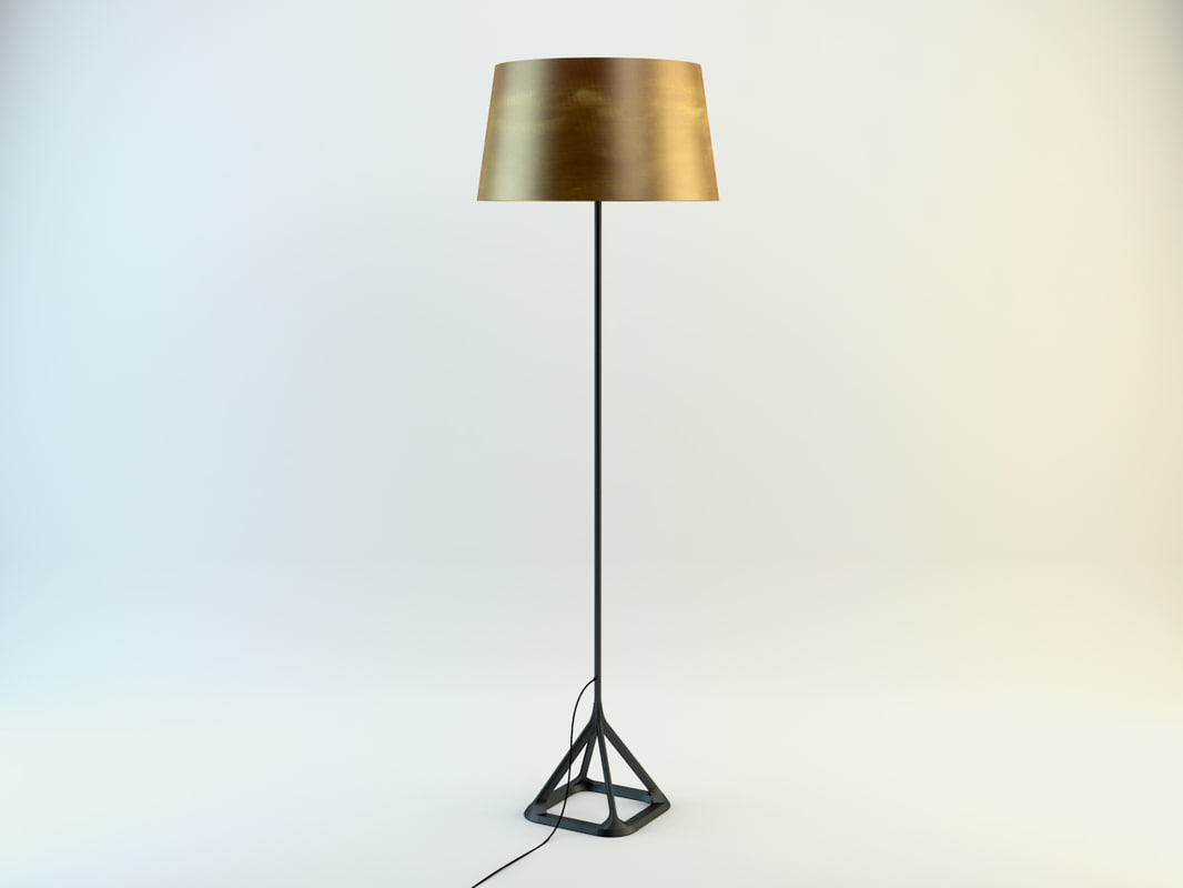 tom dixon base floor lamp 3d obj