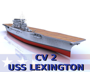 uss lexington cv-2 c4d