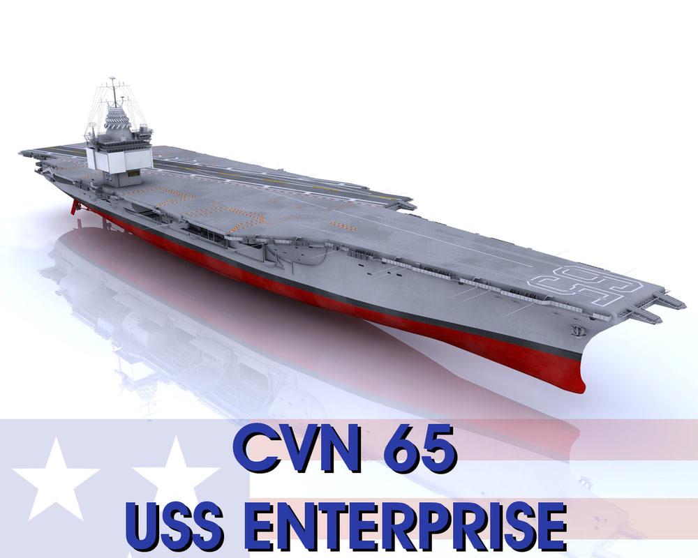 3d model enterprise aircraft carrier