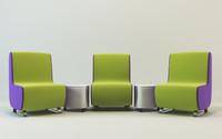sofa table settings 3d model