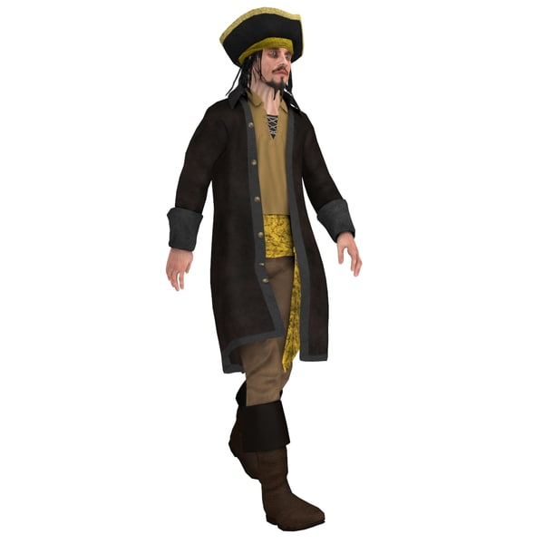 3d rigged pirate hat
