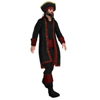 3d rigged pirate hat model
