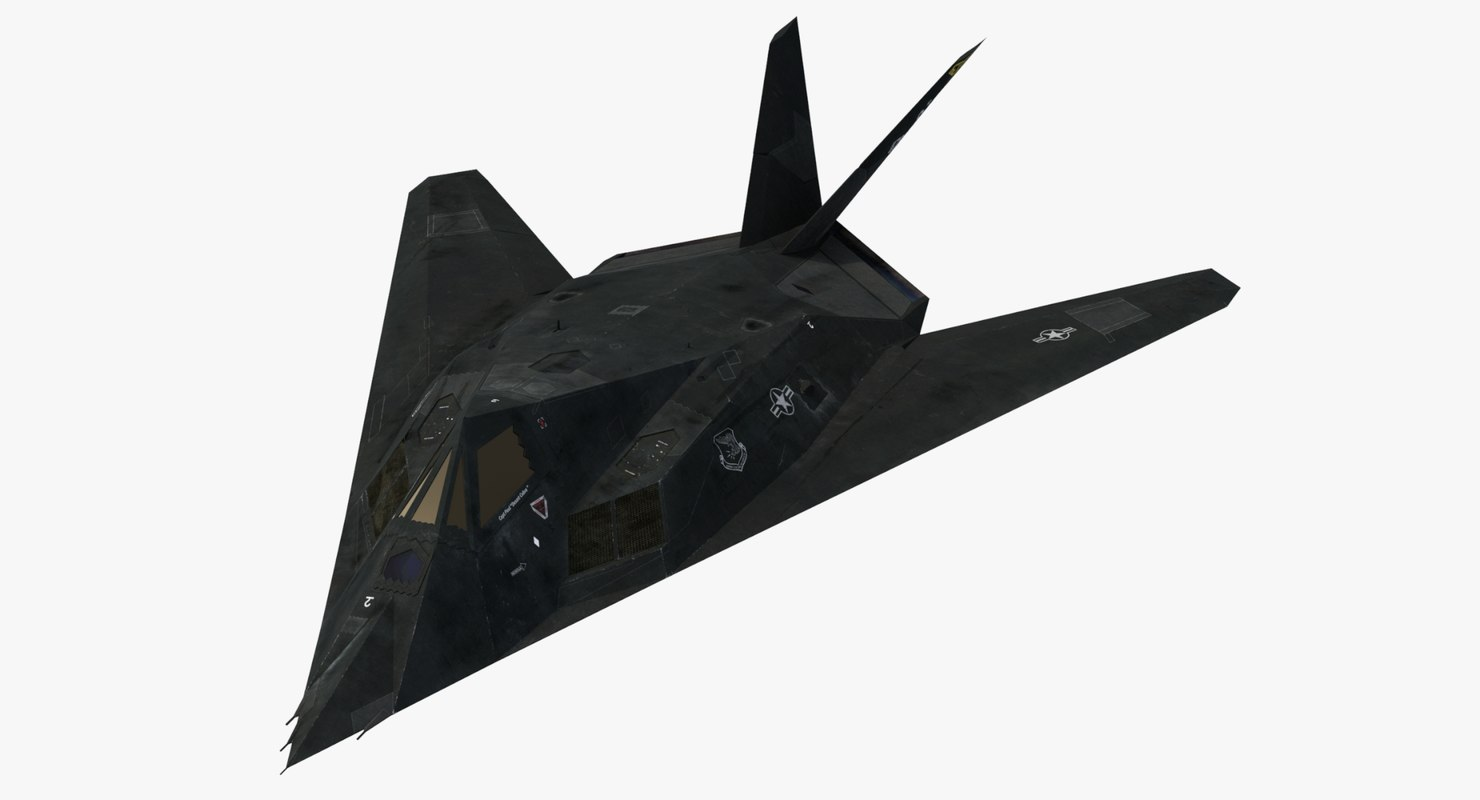 3ds max lockheed nighthawk stealth aircraft