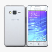 samsung z1 white 3d model
