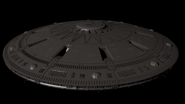 big spacecraft space c4d