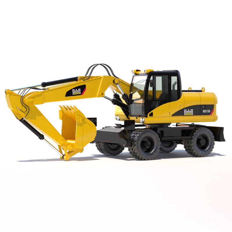 3d model of excavator 315d-316d