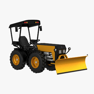 3d model small snowplow