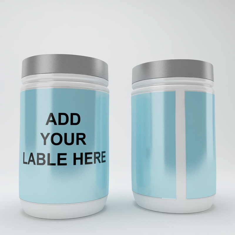 3d container bottle model
