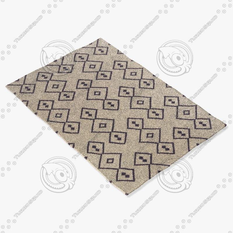 chandra rugs lim-25709 3d model