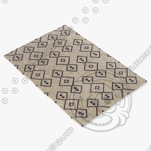 chandra rugs lim-25709 3d model