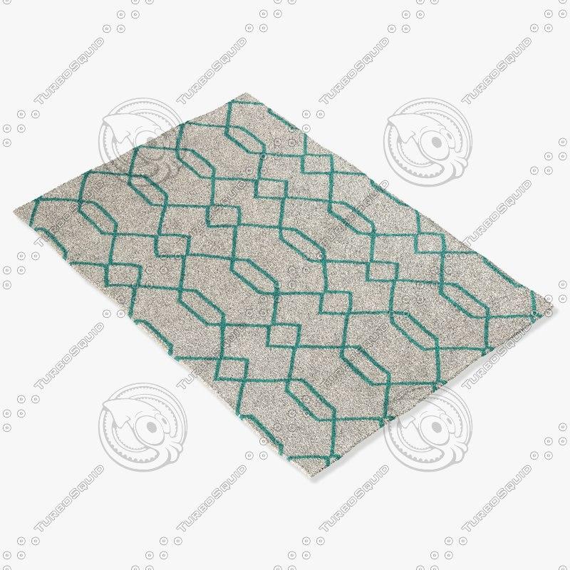 3d model chandra rugs lim-25713