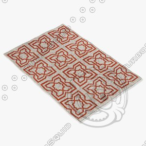 chandra rugs lim-25719 3d 3ds