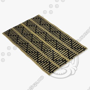 chandra rugs lim-25721 3d model