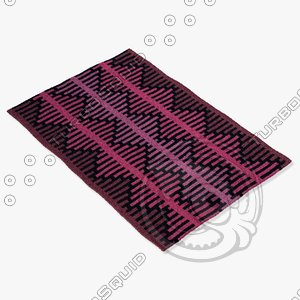 3d model of chandra rugs lim-25723