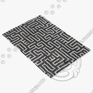 3d model chandra rugs lim-25724
