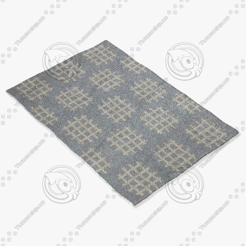 chandra rugs lim-25727 3d model