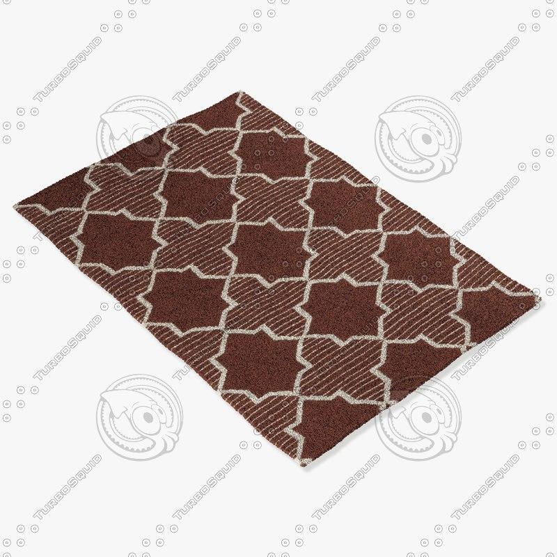 3d model chandra rugs lim-25735