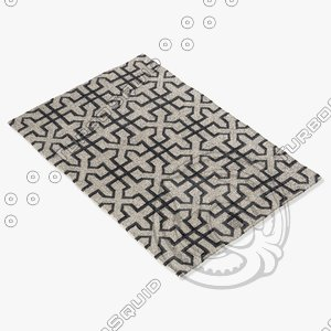 3d model chandra rugs lim-25740