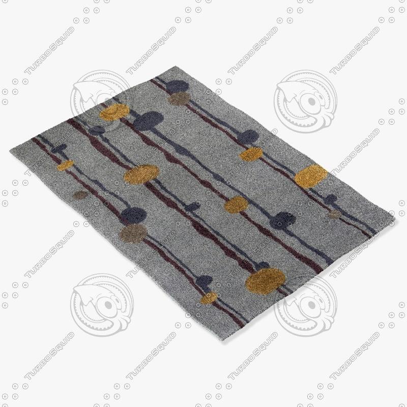 chandra rugs los-1809 3d model